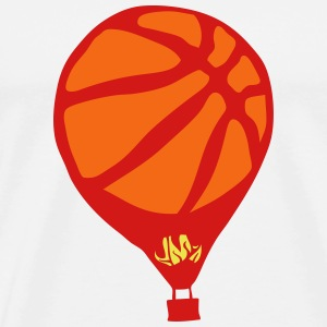 balloon basketball fire flame T-Shirts - Men's Premium T-Shirt