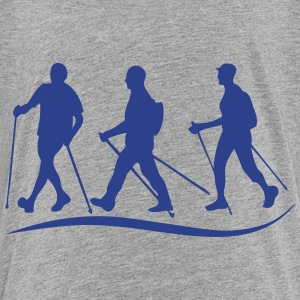 nordic walking stick before logo Kids' Shirts - Kids' Premium T-Shirt