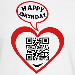60 years qr code flash happy birthday Long Sleeve Shirts - Men's Long Sleeve T-Shirt