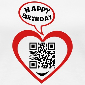 40 years qr code flash happy birthday T-Shirts - Women's Premium T-Shirt