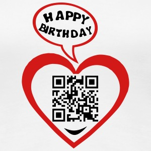 50 years qr code flash happy birthday T-Shirts - Women's Premium T-Shirt