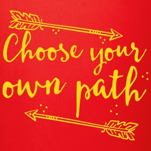 choose your own path with arrow Mugs & Drinkware - Full Color Mug