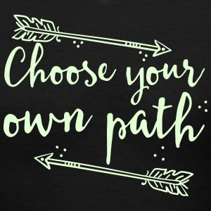 choose your own path with arrow Women's T-Shirts - Women's V-Neck T-Shirt