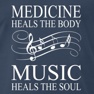 Music - Heals the soul - Men's Premium T-Shirt