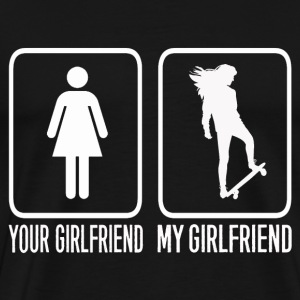 Skate boarding girlfriend - Men's Premium T-Shirt