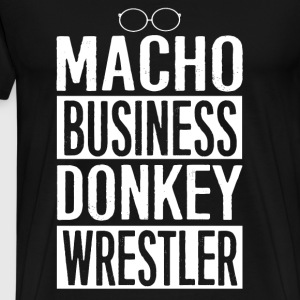 News radio - Macho business donkey wrestler - Men's Premium T-Shirt