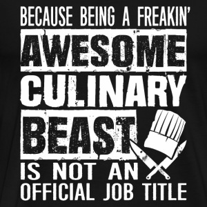 Chef - Awsome culinary beast chef - Men's Premium T-Shirt