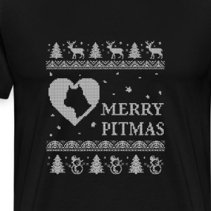 Pitbull lovers - Merry pitmas - Men's Premium T-Shirt