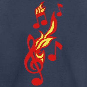 note flame music key ground fire music 1 Kids' Shirts - Kids' Premium T-Shirt