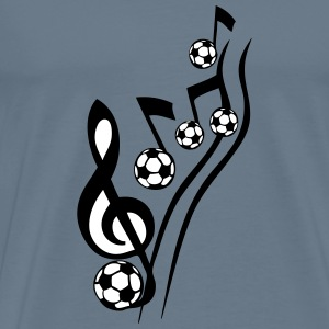music score soccer ball keynote T-Shirts - Men's Premium T-Shirt