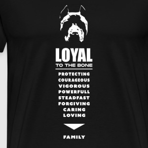 Dog - Loyal to the bone - Men's Premium T-Shirt