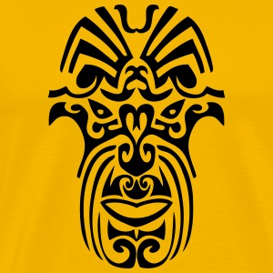 maori tribal tattoo mask 8 ethnic mask T-Shirts - Men's Premium T-Shirt