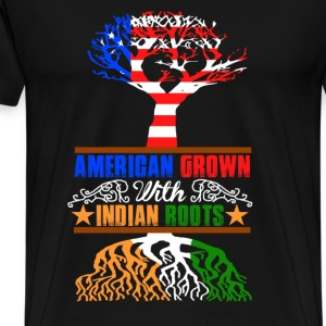 American grown with Indian roots - Men's Premium T-Shirt