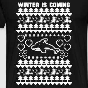 Dolphin Christmas - Winter is coming - Men's Premium T-Shirt