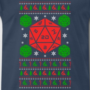 D20 Christmas sweater - Men's Premium T-Shirt
