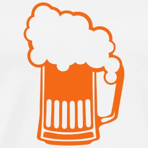 binouze drawing beer foam alcohol 610 T-Shirts - Men's Premium T-Shirt