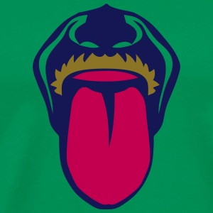 tongue sticking mustache language 606 T-Shirts - Men's Premium T-Shirt