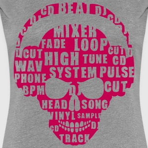 death head skull dj music jargon 2 T-Shirts - Women's Premium T-Shirt