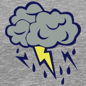 lightning cloud rain storm 606 T-Shirts - Men's Premium T-Shirt