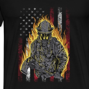 Firefighter- Awesome t-shirt for american lovers - Men's Premium T-Shirt