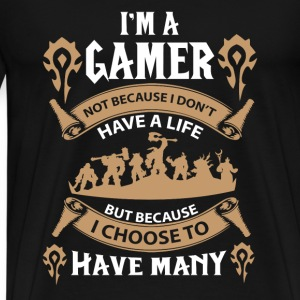 Warcraft gamer-I choose to have many lives - Men's Premium T-Shirt