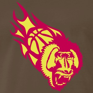howler monkey basketball flame fire T-Shirts - Men's Premium T-Shirt