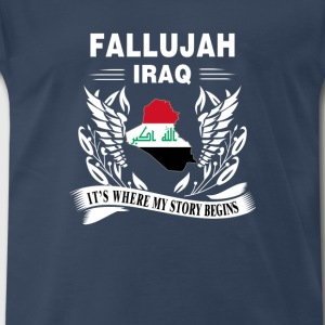 Fallujah - Fallujah is where my story begins - Men's Premium T-Shirt