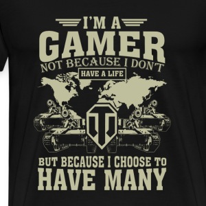 WOT-WOT gamer choose to have many lives - Men's Premium T-Shirt