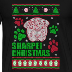 Sharpei-Sharpei dog Christmas ugly sweater - Men's Premium T-Shirt