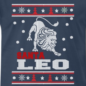 Santa Leo-Ugly Christmas sweater for Leo - Men's Premium T-Shirt