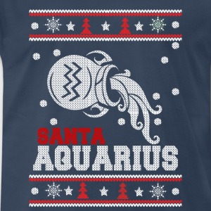 Santa Qquarius-Ugly Christmas sweater for Aquarius - Men's Premium T-Shirt