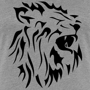 tribal mouth lion roars 2 T-Shirts - Women's Premium T-Shirt