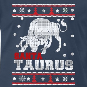 Santa Taurus-Santa Taurus ugly Christmas sweater - Men's Premium T-Shirt