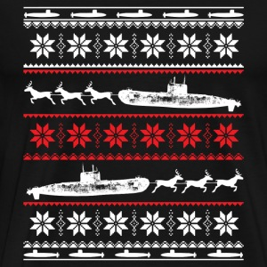 Submarine-Submarine Christmas awesome sweater - Men's Premium T-Shirt