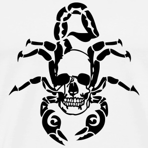 tribal scorpion skull death head 1 T-Shirts - Men's Premium T-Shirt