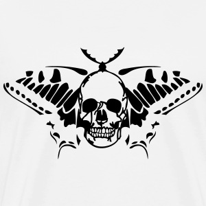 butterfly tribal butterfly skull death T-Shirts - Men's Premium T-Shirt