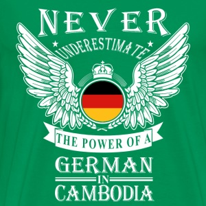 German in Cambodia-Never underestimate his power - Men's Premium T-Shirt
