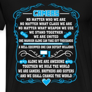 Gamers-Gamers together we rule the world - Men's Premium T-Shirt