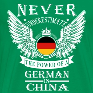 German in China-Never underestimate his power - Men's Premium T-Shirt