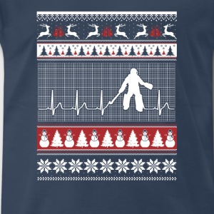 Hockey-Perfect hockey christmas sweater for fans - Men's Premium T-Shirt