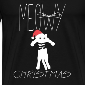 Meowy christmas - perfect gift for cats lover - Men's Premium T-Shirt