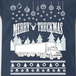 Trucker-Merry truckmas awesome sweater - Men's Premium T-Shirt