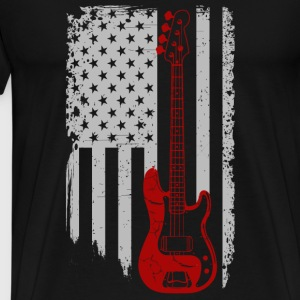 Bass guitar - American Bass guitar lover - Men's Premium T-Shirt