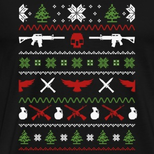 Military-Military guns awesome christmas sweater - Men's Premium T-Shirt