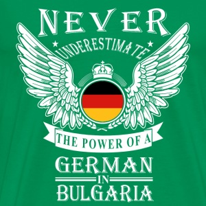 German-THe power of an German in Bulgaria - Men's Premium T-Shirt