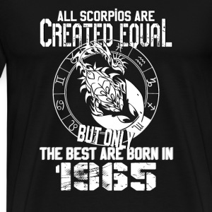 Scorpio-Best Scorpios are born in 1965 t-shirt - Men's Premium T-Shirt