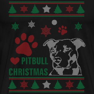 Pitbull-Christmas sweater for pitbull lovers - Men's Premium T-Shirt