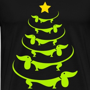 Doxie-Doxie christmas tree awesome sweater - Men's Premium T-Shirt