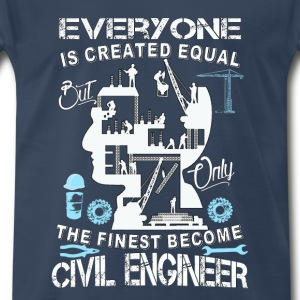 Civil engineer-The finese become civil engineer - Men's Premium T-Shirt