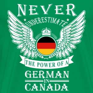 German-THe power of an German in canada - Men's Premium T-Shirt
